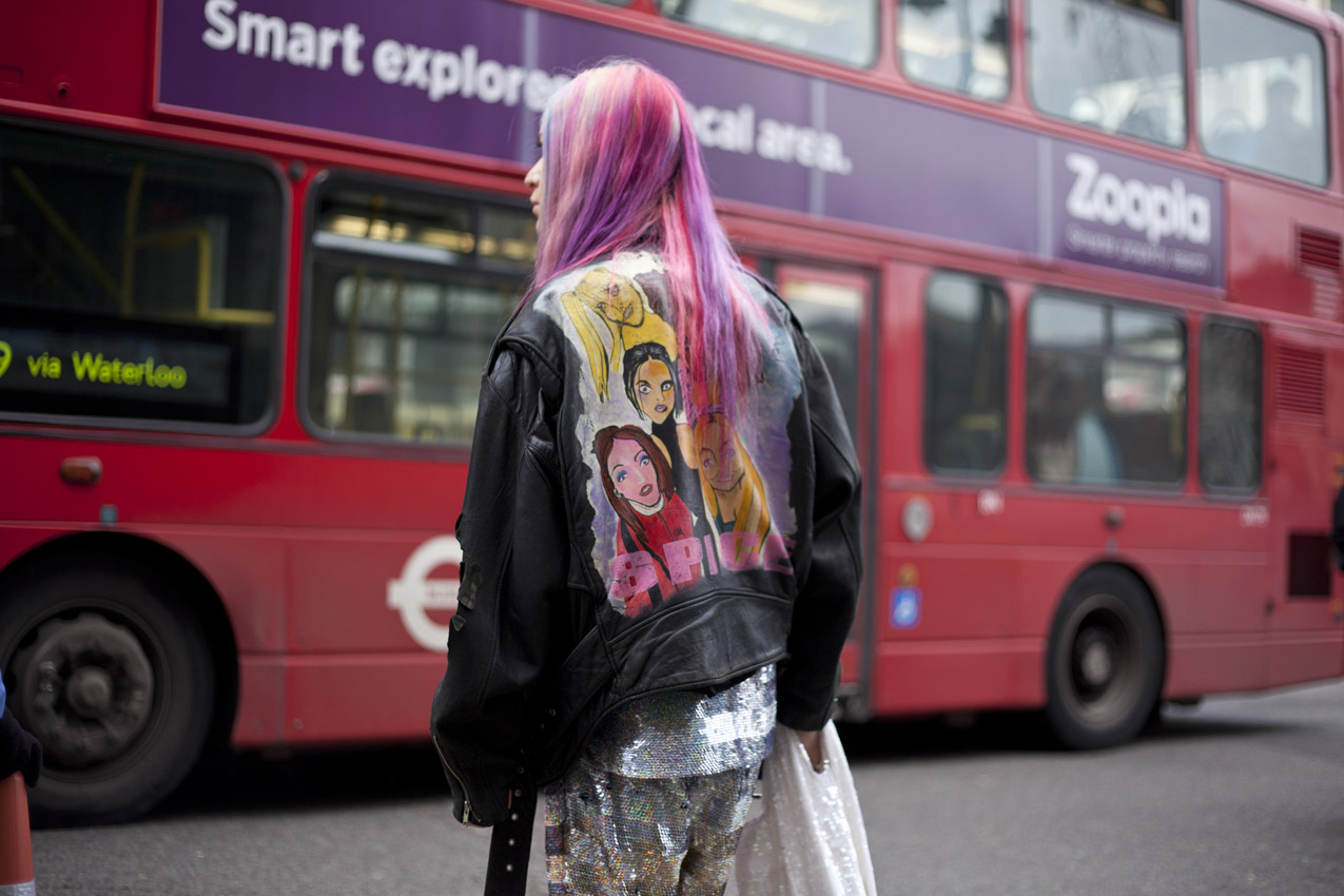 topshop :     Pink hair, Spice Girls and  sequins ? It's a 90s dream look.
