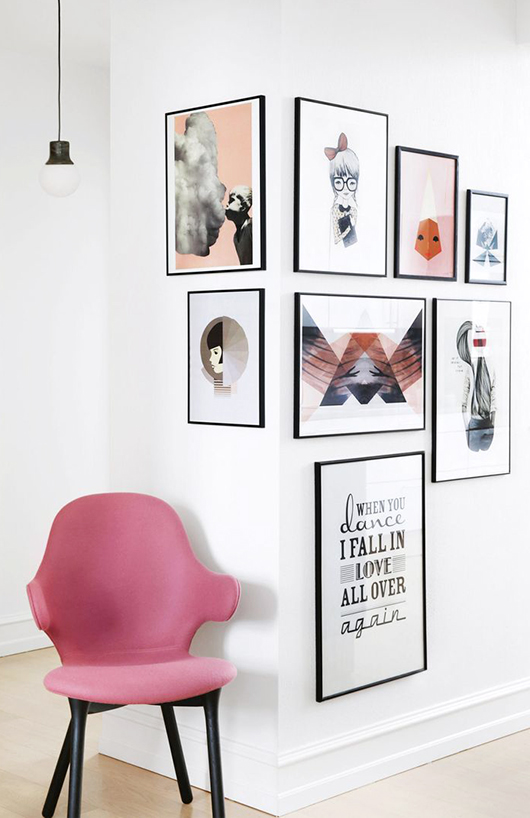 myidealhome :     art corner / via photography by frederikke heiberg for  inside out magazine