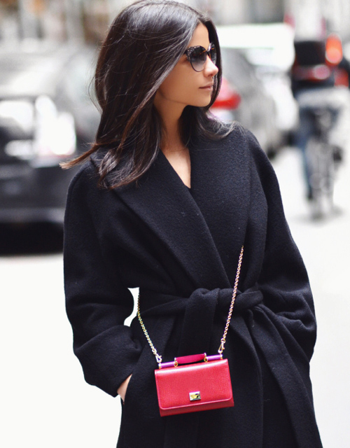 fashion-clue :    justthedesign :      Lainy Hedaya  with her  mini bag  from Dolce & Gabbana      www.fashionclue.net  | Fashion Tumblr, Street Wear & Outfits