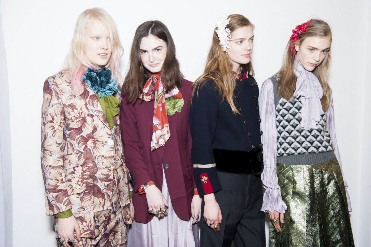 crfashionbook :      Behind the scenes of Alessandro Michele's debut collection for Gucci