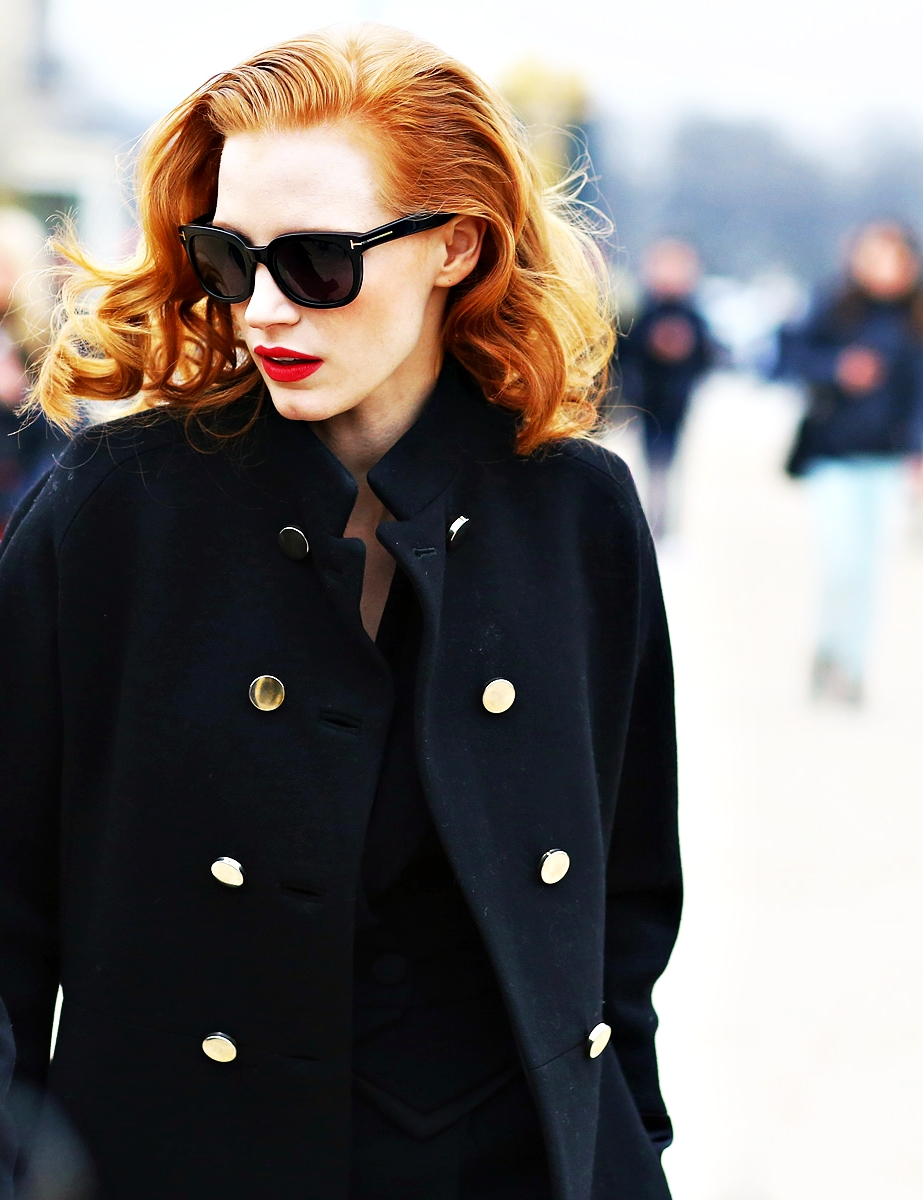 dustjacketattic :     Jessica Chastain | Viktor & Rolf Fall 2013 show | Paris Fashion Week