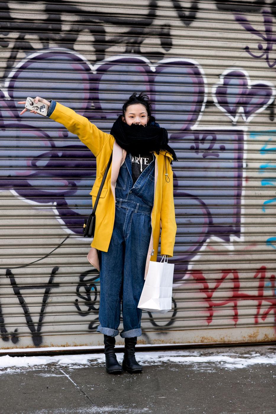 Xiao Wen Ju   - NYFW Fall 2015 street style