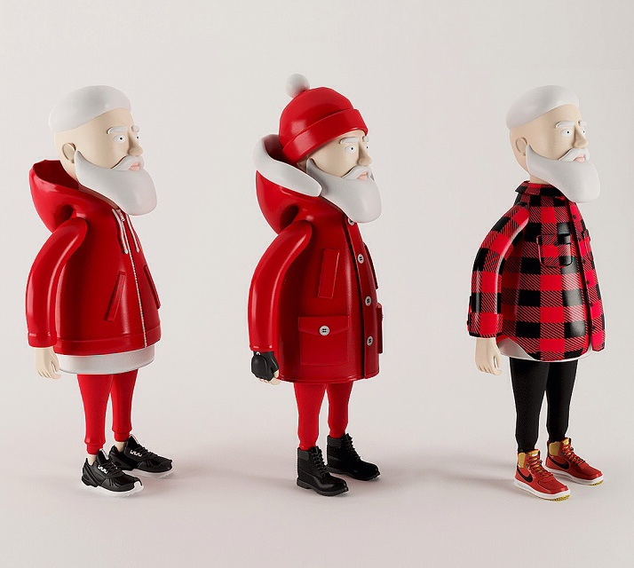 wgsn :     Merry Christmas from WGSN's Active team! Simeon Georgiev's 'Santa does street wear' has got us feeling extra festive. We love the Christmas re-boot of the Woolrich Arctic parka, Timberland Triple black boots and adidas Tubular and think the big guy should go with this look on the 25th!