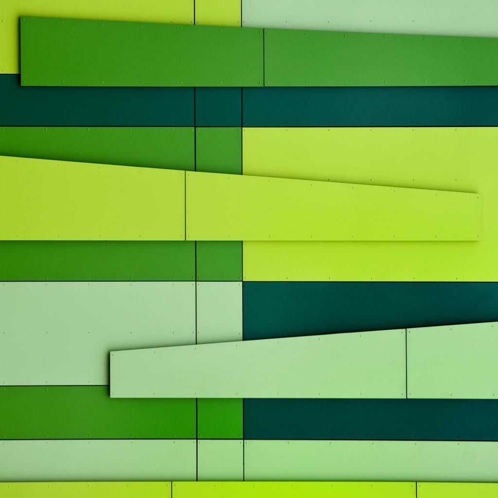 lostinpattern :      UK - Nottingham - Science Park - Green Cladding 02  byDarrell Godliman