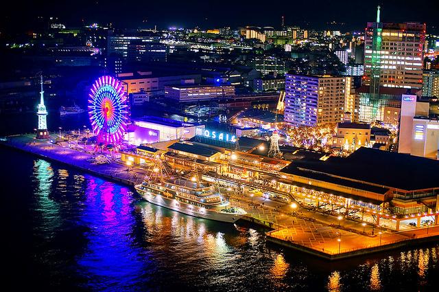 ileftmyheartintokyo :      Kobe Harborland Skyline at Night in Kobe Japan  by  TOTORORO.RORO  on Flickr.