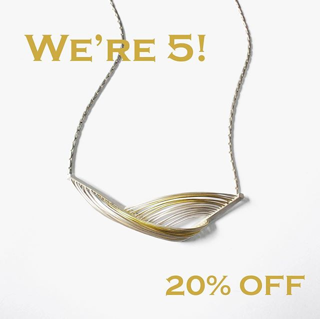 It's our 5th Christmas in business! I'm so thankful for all the support this far and as a little thank you I'm delighted to offer 20% off on existing jewellery. You'll also get free UK postage! Head over to the website to see what you can pick up!  To guarantee a Christmas delivery please get your orders in before Tuesday the 18th of December.
