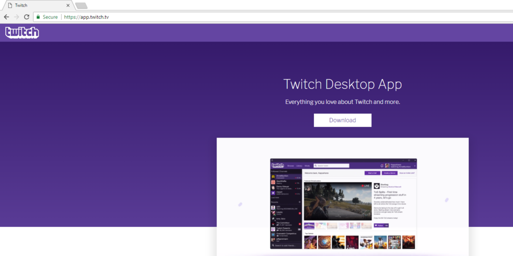 Download Twitch - https://app.twitch.tv
