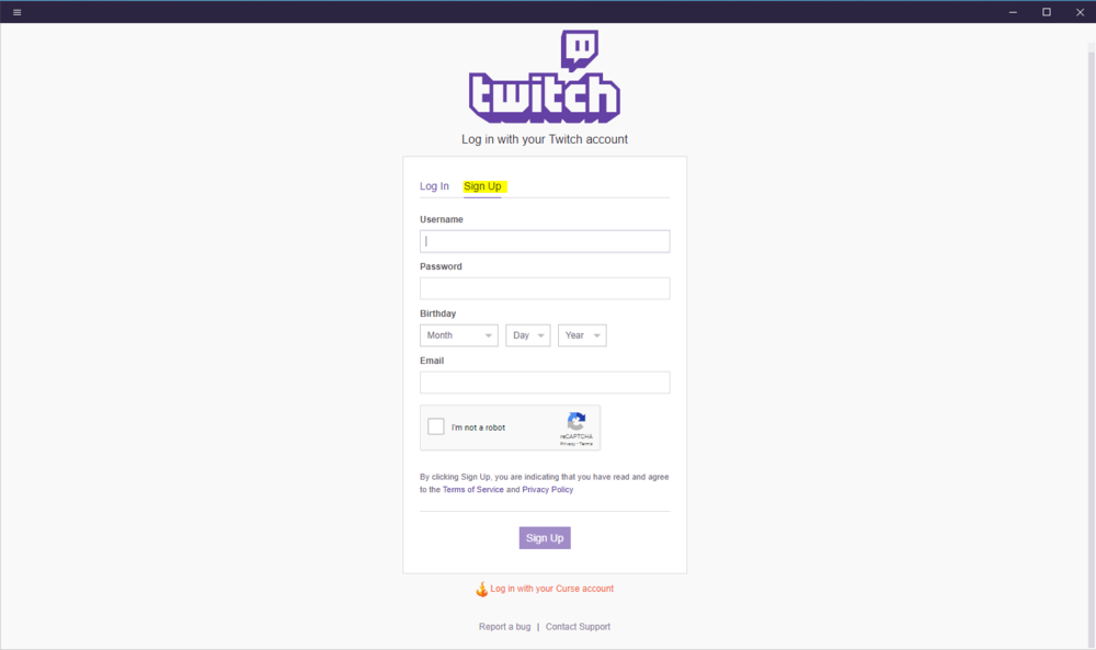 Sign in - Sign in to your exisiting Twitch account or sign up for a free account.