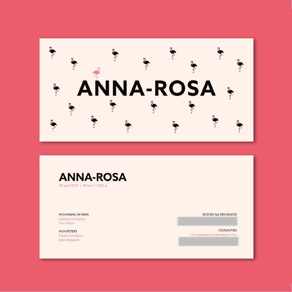 EEN GEBOORTEKAART VOOR ANNA-ROSA