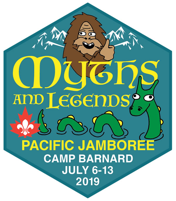 Myths & Legends!  The Pacific Jamboree, hosted by BC-Yukon Councils, is held every four years and participation is open to all youth of Scout age. The Pacific Jamboree theme for 2019 is Myths & Legends!