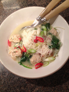 The Tiniest Thai Rachel Walder pork and prawn ball noodle soup
