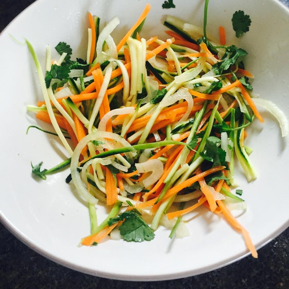 Rachel Walder fish tacos salad