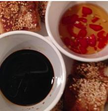 Rachel Redlaw pork and prawn sesame toasts