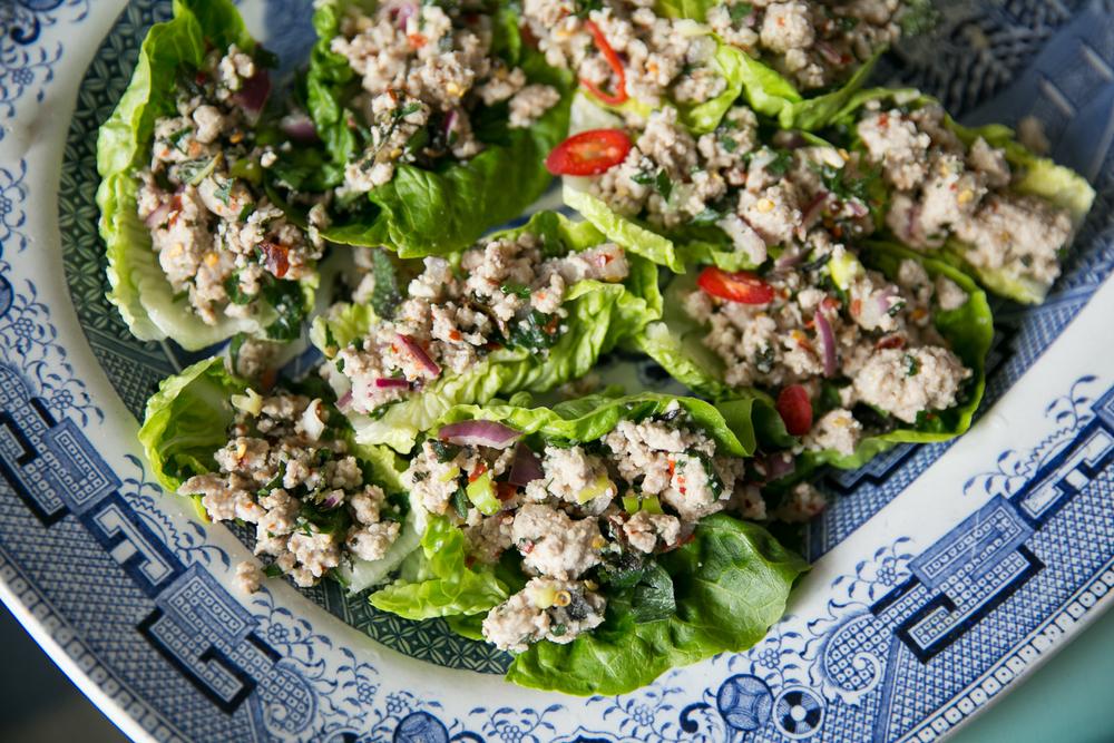 Rachel Redlaw larb gai spicy salad