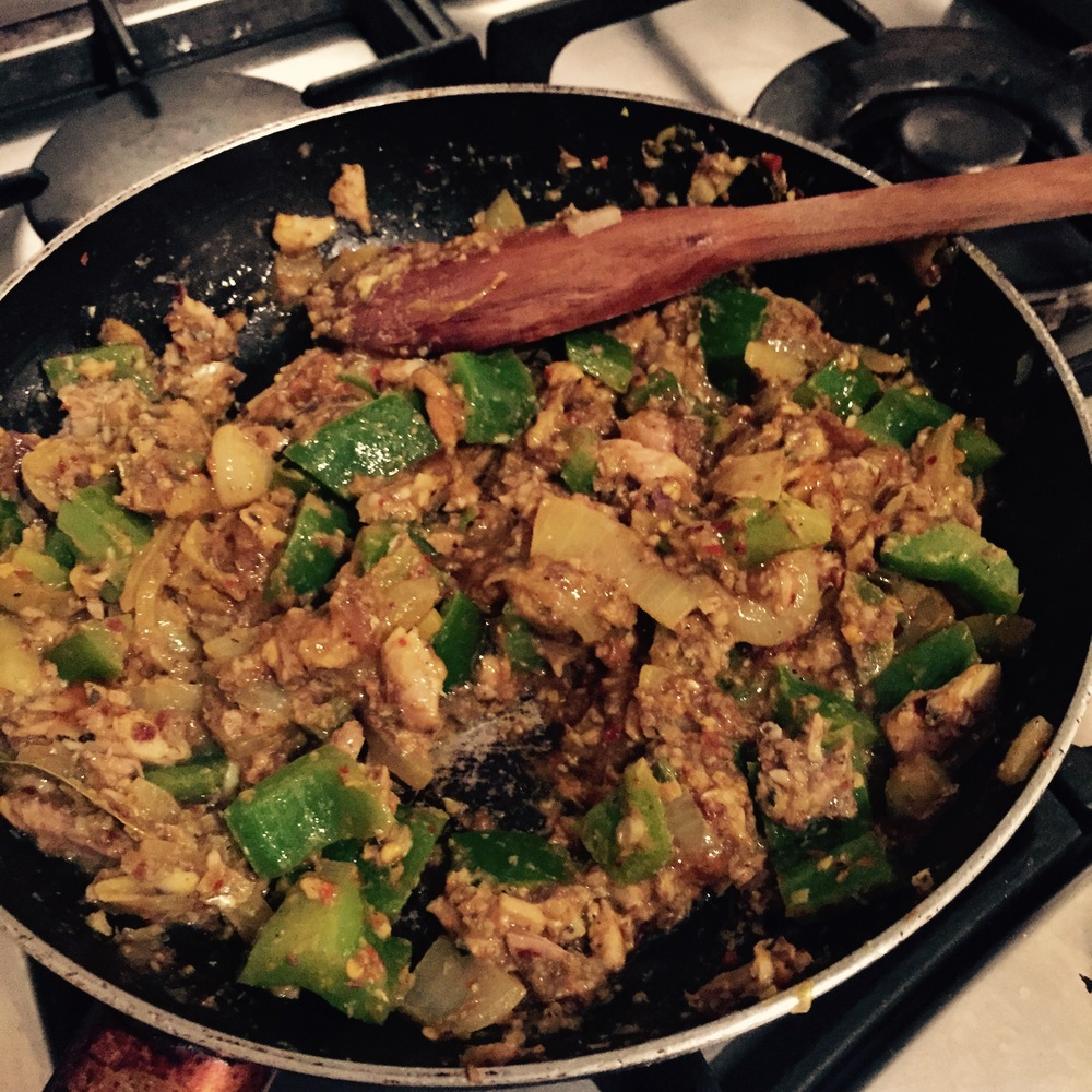 Rachel Redlaw sardine or mushroom mango chutney curry
