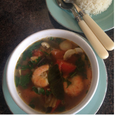 Rachel Redlaw tom yum hot and sour soup