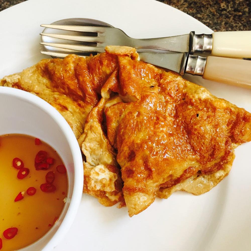 Rachel Redlaw kai jeow thai omelette
