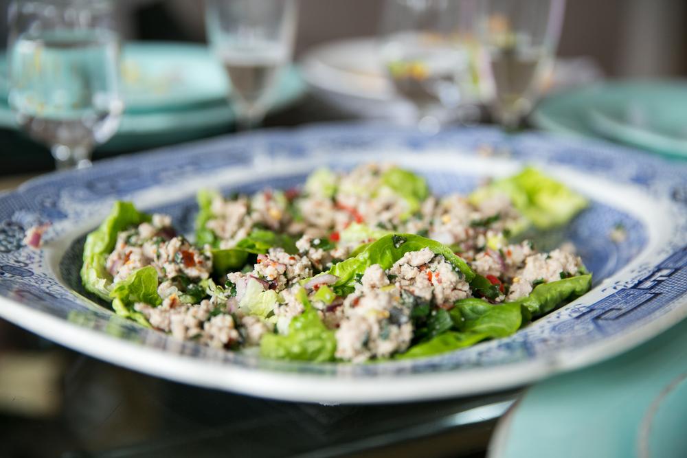 Rachel Redlaw Larb Thai spicy salad The Tiniest Thai