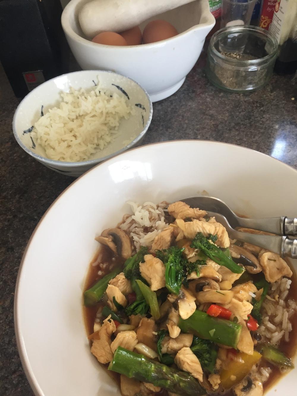 Rachel Redlaw The Tiniest Thai diet squid stir fry