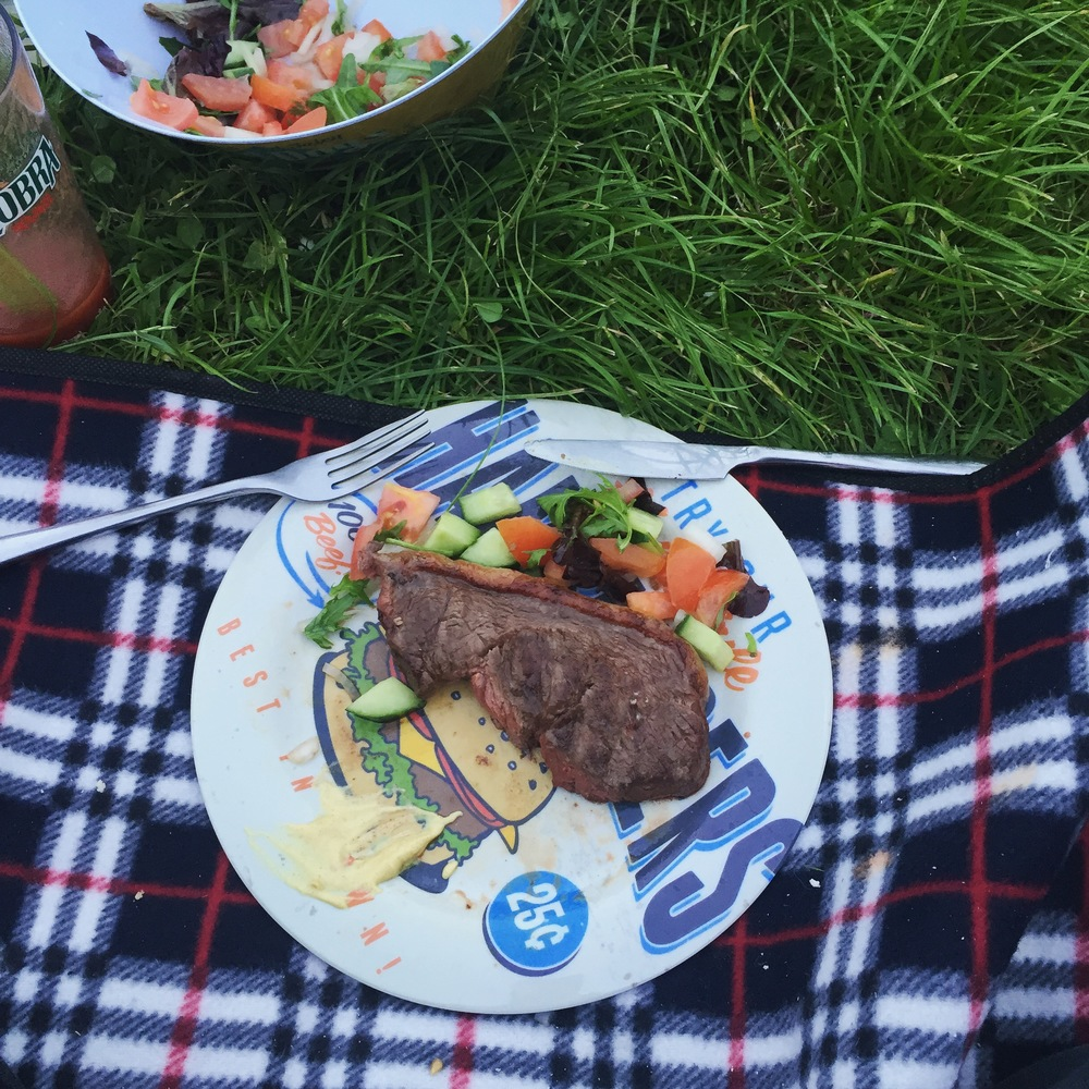 Rachel Redlaw steak campfire barbecue camping