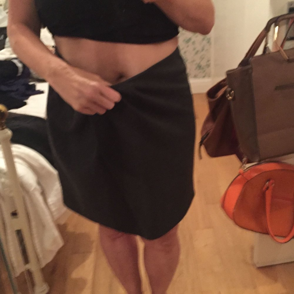 Rachel Redlaw skirt weight loss