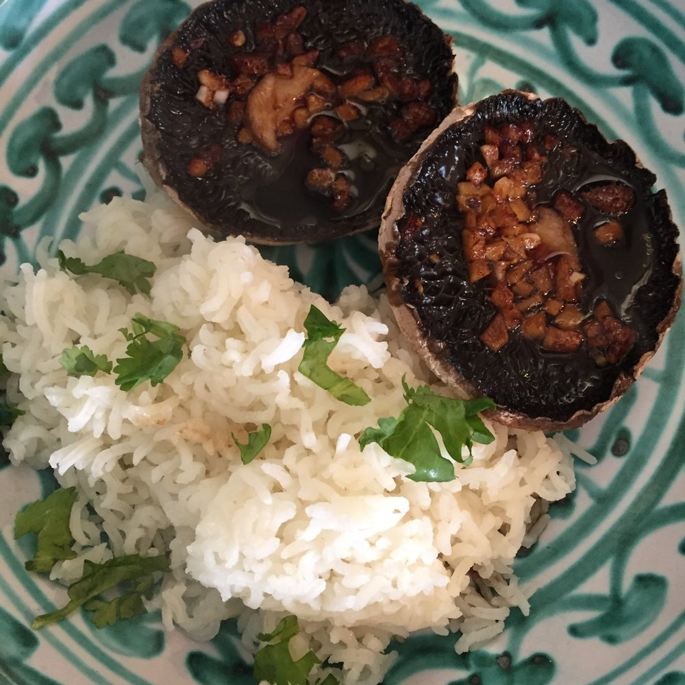Rachel Redlaw asian grilled mushrooms
