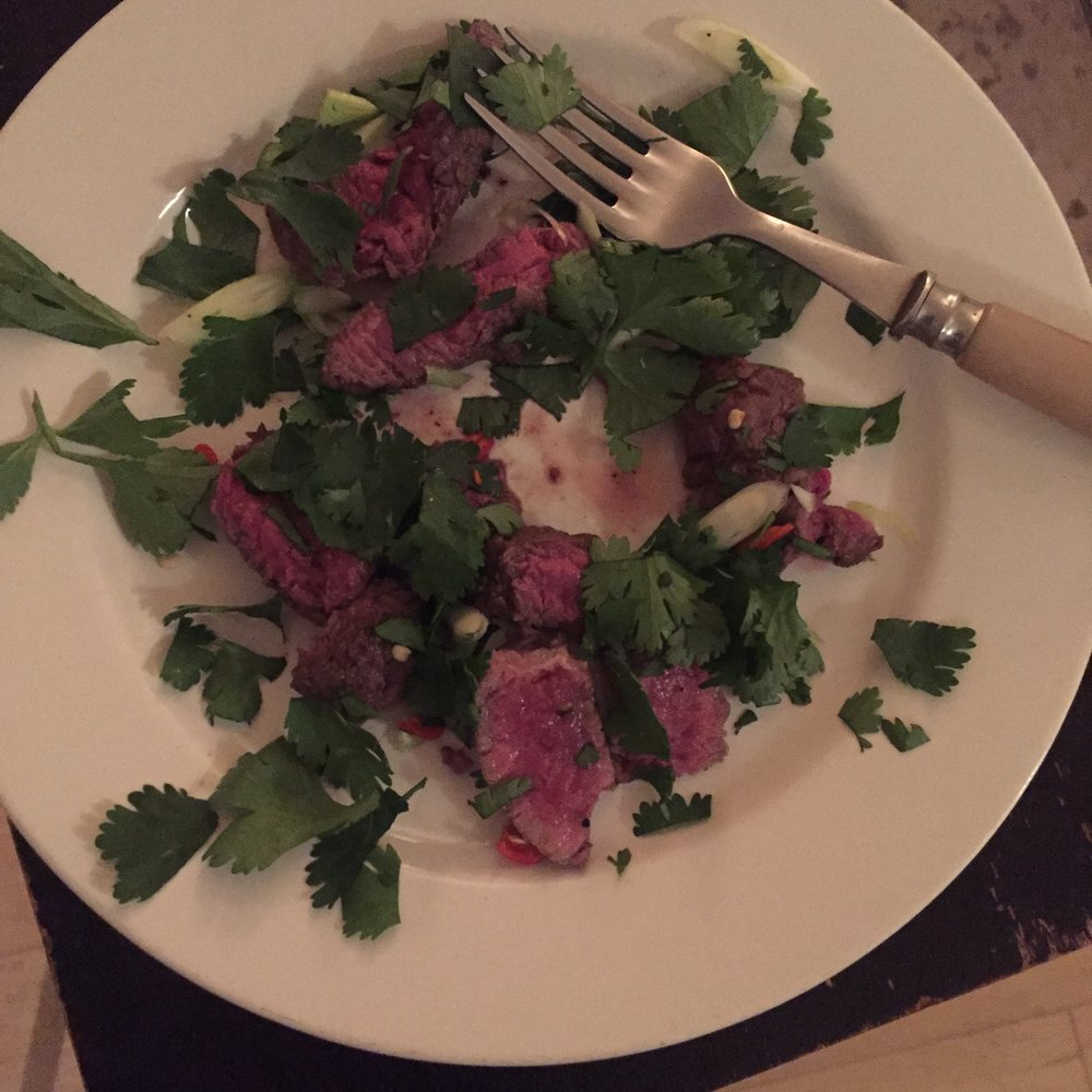 Rachel Redlaw simplest steak supper