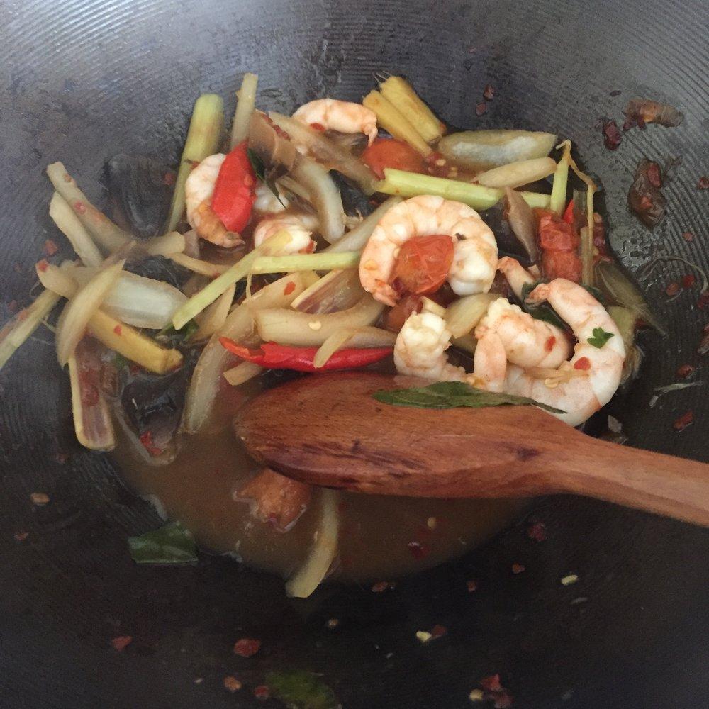 Rachel Redlaw tom yum goong noodles