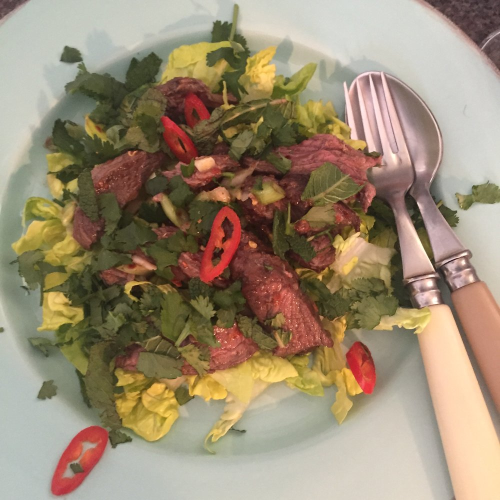 Rachel Redlaw yum nua steak salad