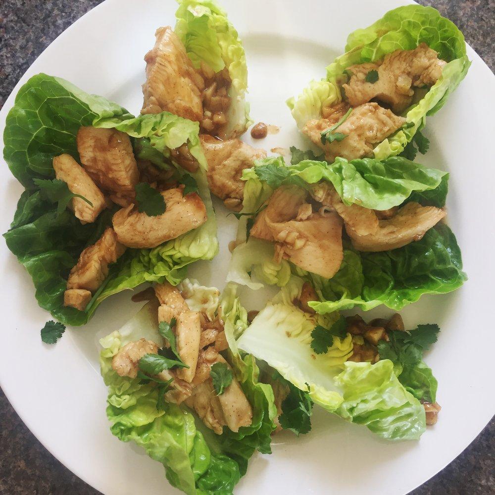 Rachel Redlaw gai gratiem garlic chicken