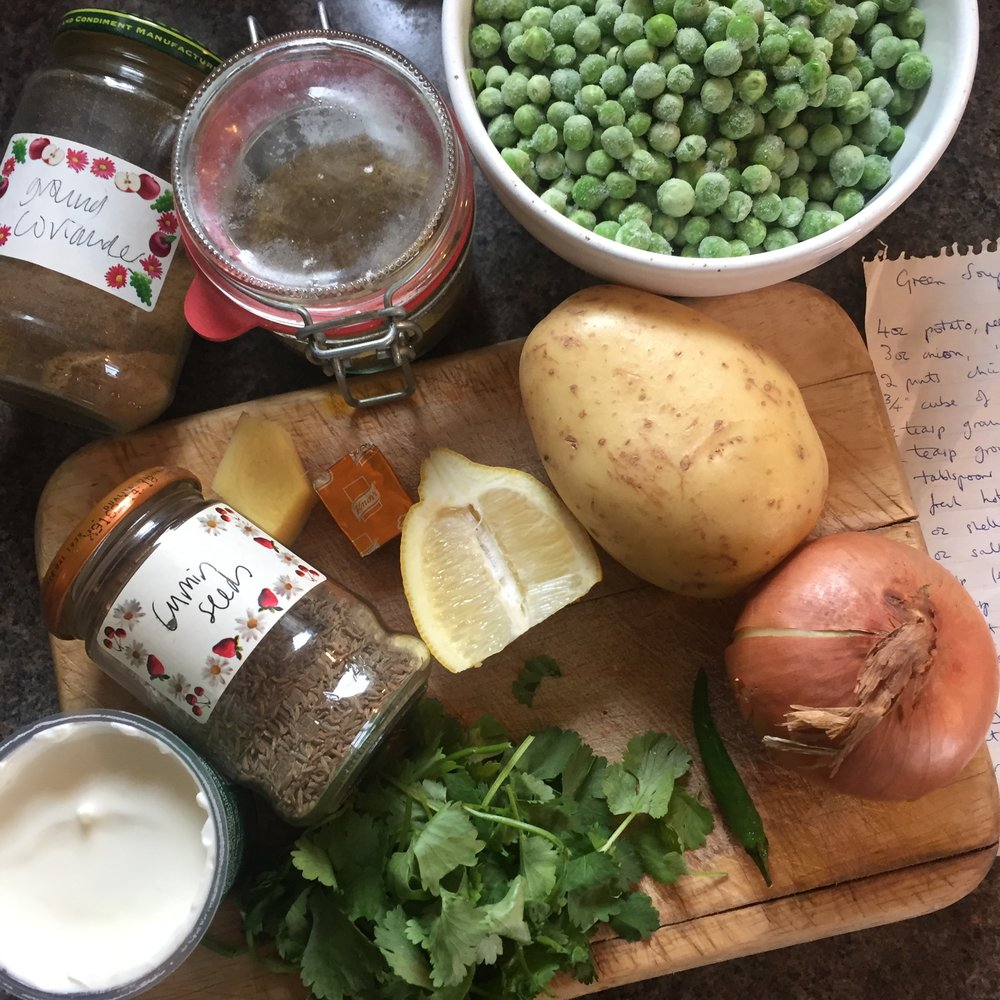 Rachel Redlaw green pea and potato soup