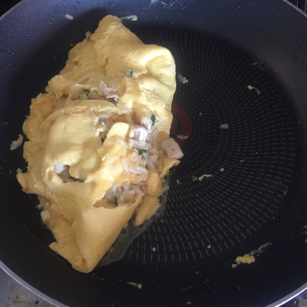 Rachel Redlaw omurice Japanese fried rice omelette