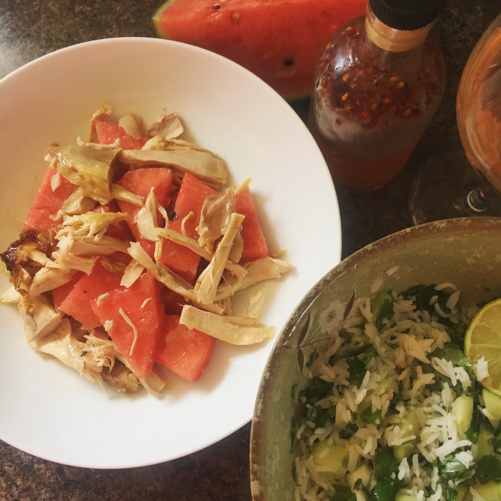 Rachel Redlaw - Thai watermelon chicken salad