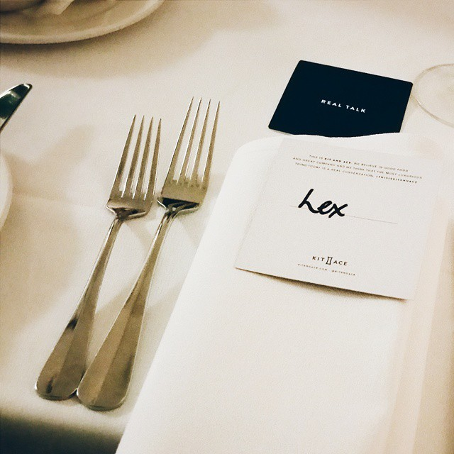 The most luxurious thing today is a real conversation. Supper club @kitandace . #thisiskitandace #realtalk #blackoutshower