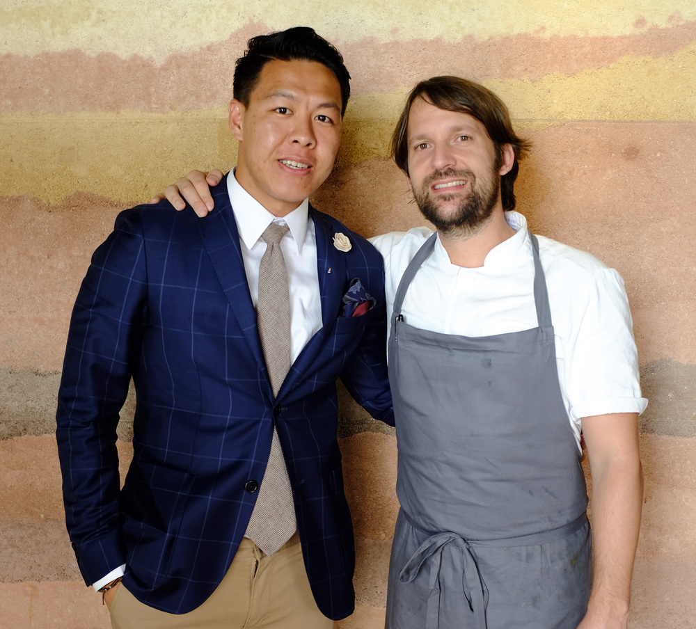 Creative Director of Mr. Gumbatron, Lex Mak with Rene Redzepi.