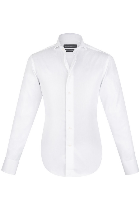 Rhodes & Beckett - White Fine Twill Shirt - $179