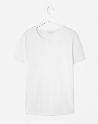 COS - Plain raw cotton crew tee - $22