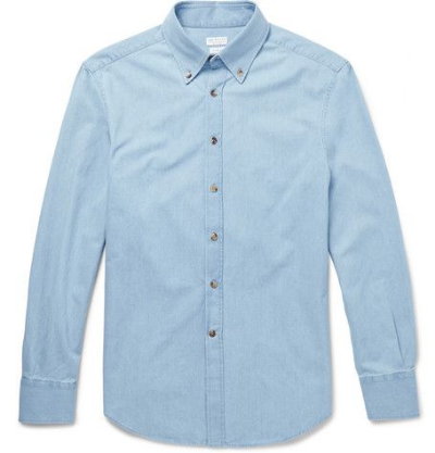 Brunello Cucinelli - Button down denim shirt - $450