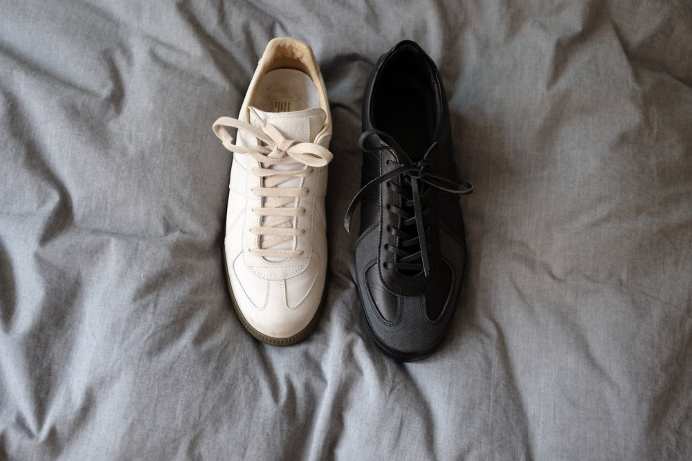 Side by side = left: Maison Margiela Replica, Right: Hender Scheme Mp-05.