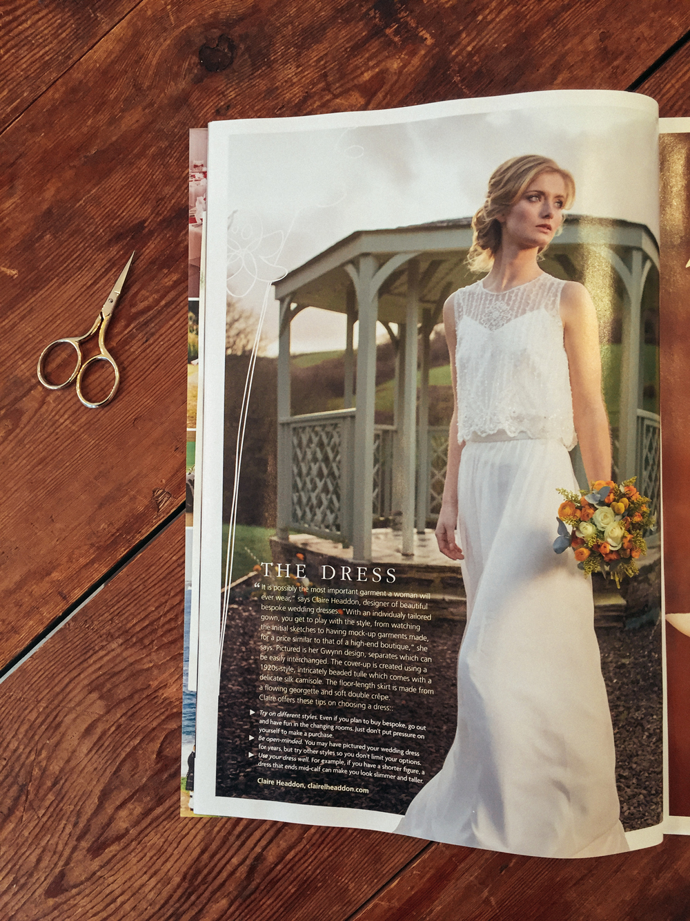 Cornwall Magazine Wedding Dress