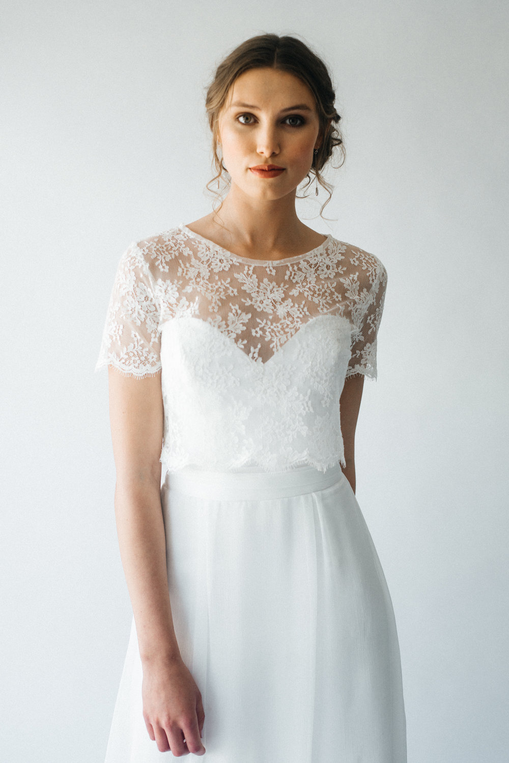 Wedding Lace Top Cornwall