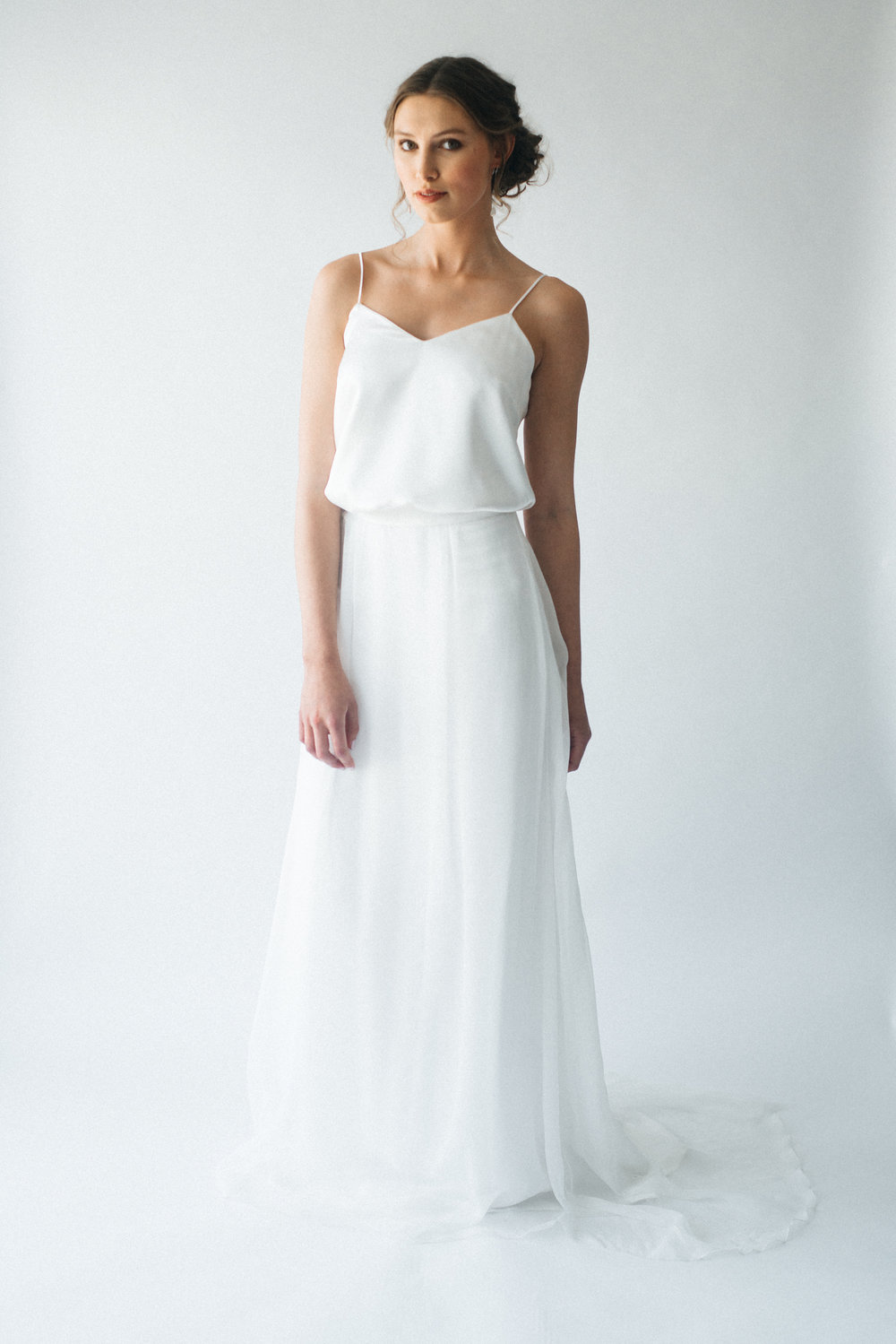 Huni and Frosa organic silk bridal separates