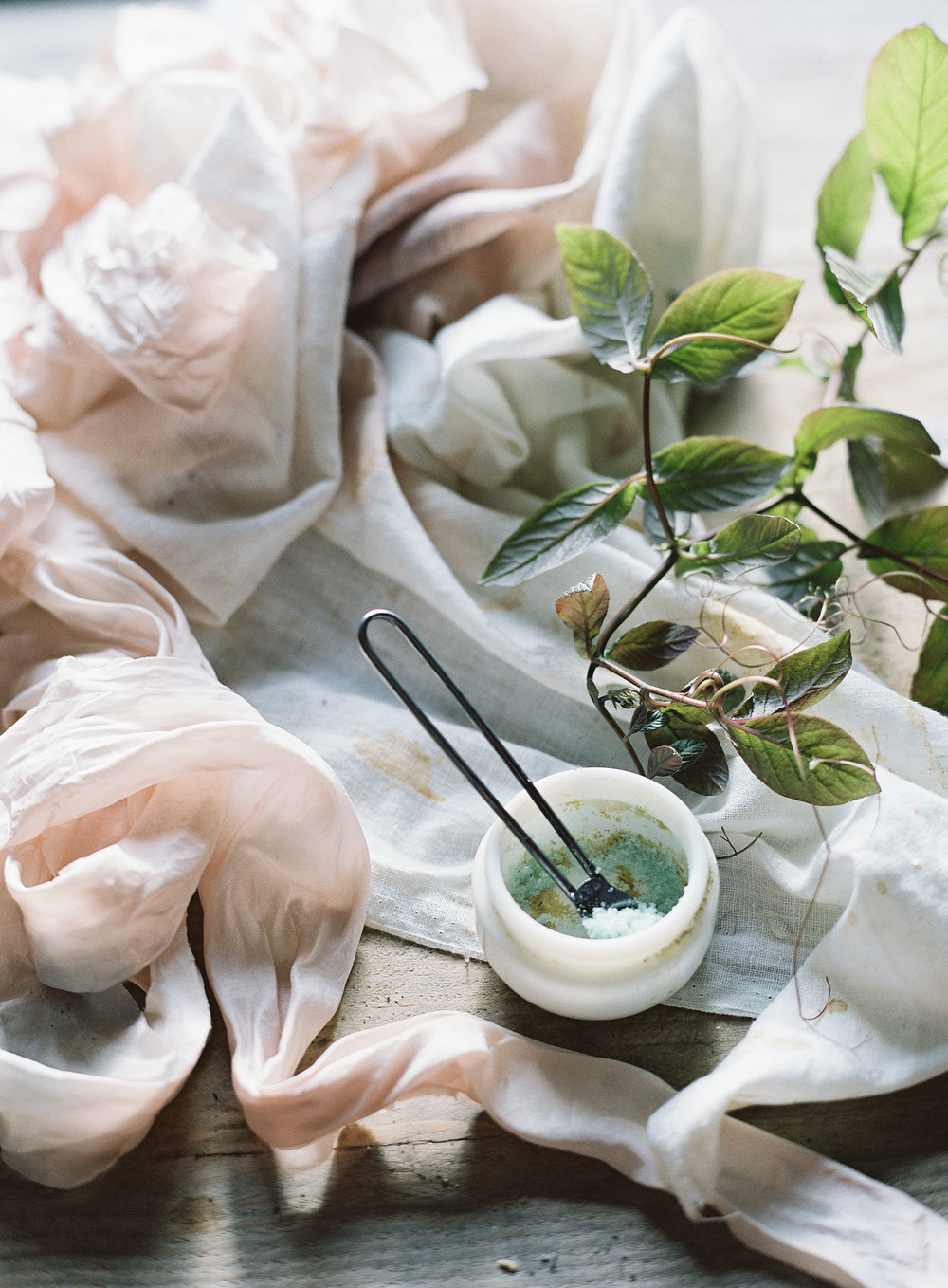 Photo by Taylor and Porter | Naturally hand dyed ribbons by Lancaster and Cornish