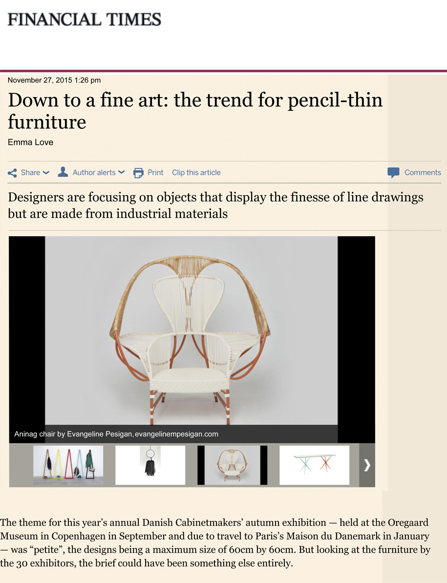Financial Times | House and Home | Interiors by Emma Love