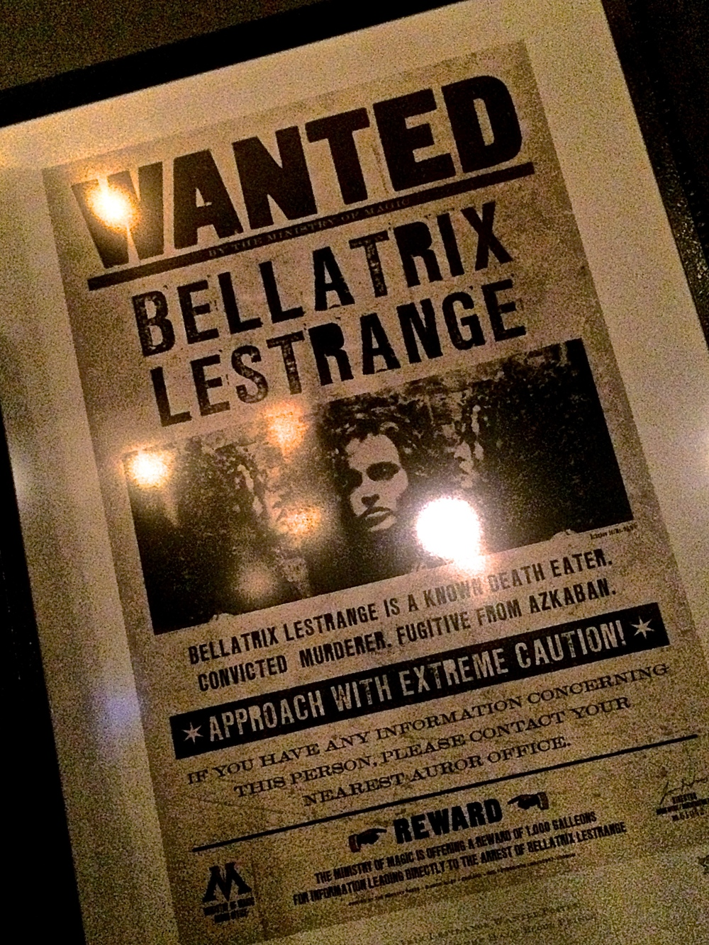 Wanted Sign Bellatrix