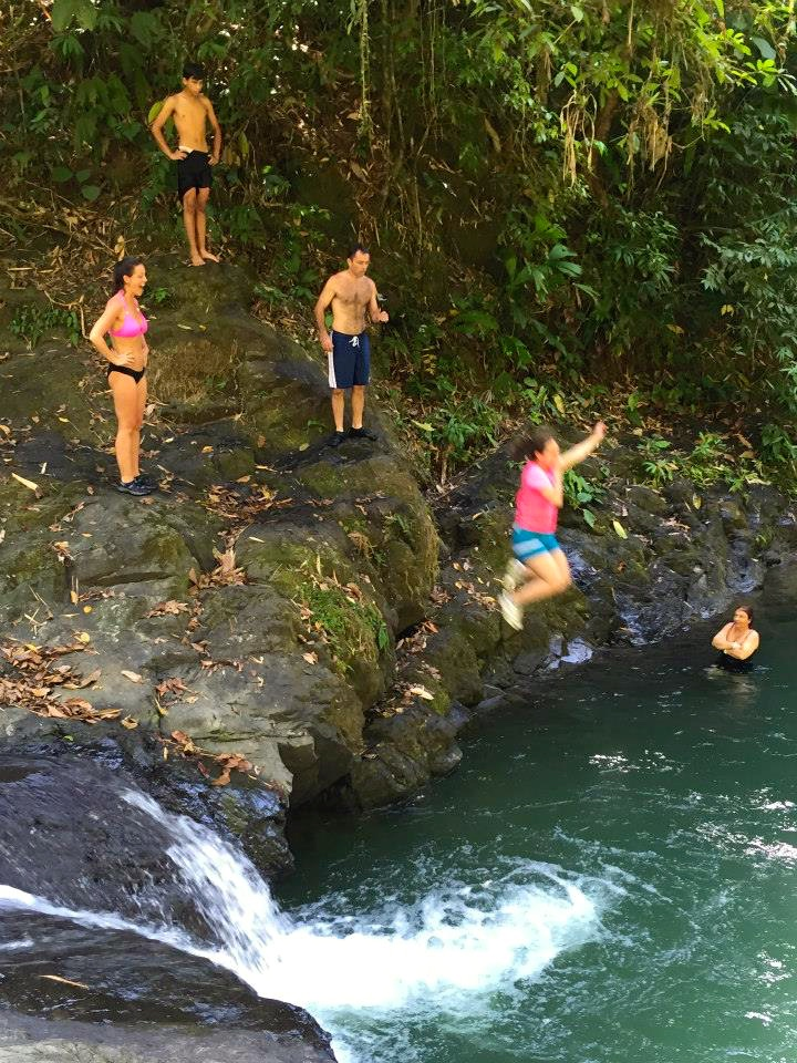 jumping off of waterfall tour