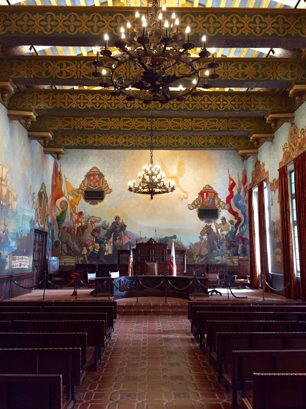 Inside the Santa Barbara Courthouse