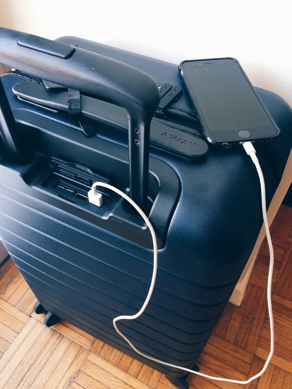 USB Charger on Carry-On Luggage