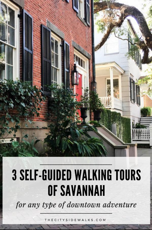 3 self guided walking tours of savannah