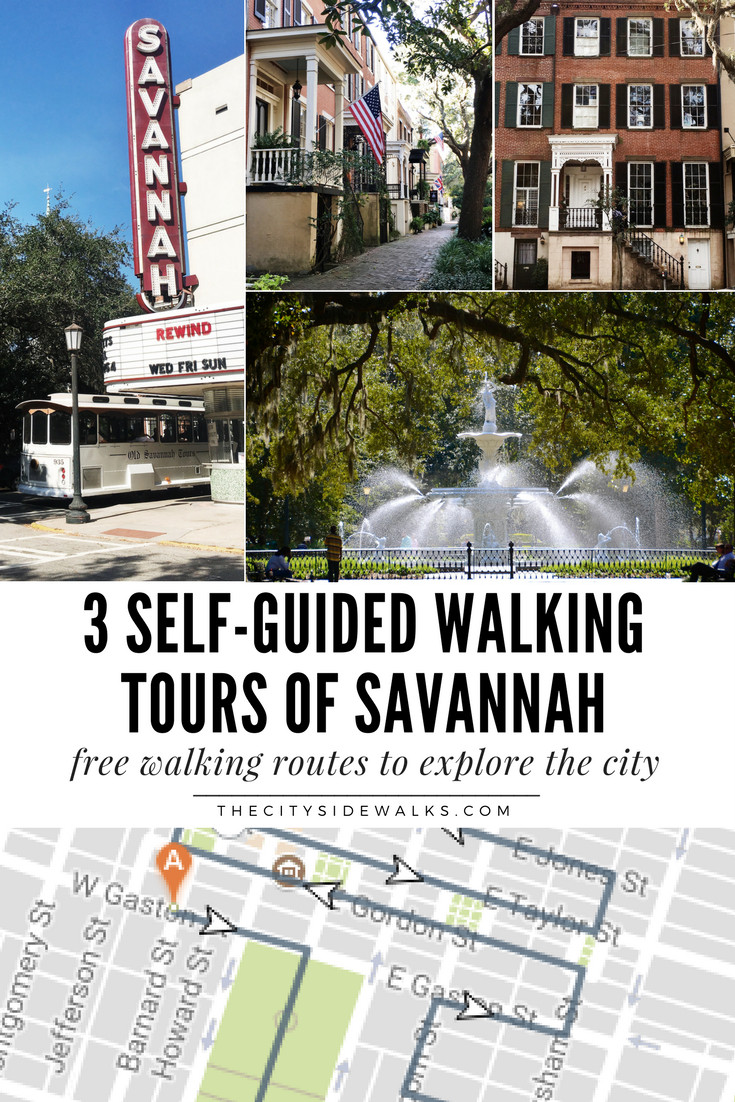 3 SelfGuided Walking Tours of Savannah The City Sidewalks
